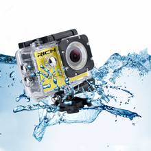 """RICH Action camera F60 / F60R Ultra HD 4K WiFi Underwater 30M Outdoor Sports Camera 2.0"""" LCD 1080p 60fps Camera"""