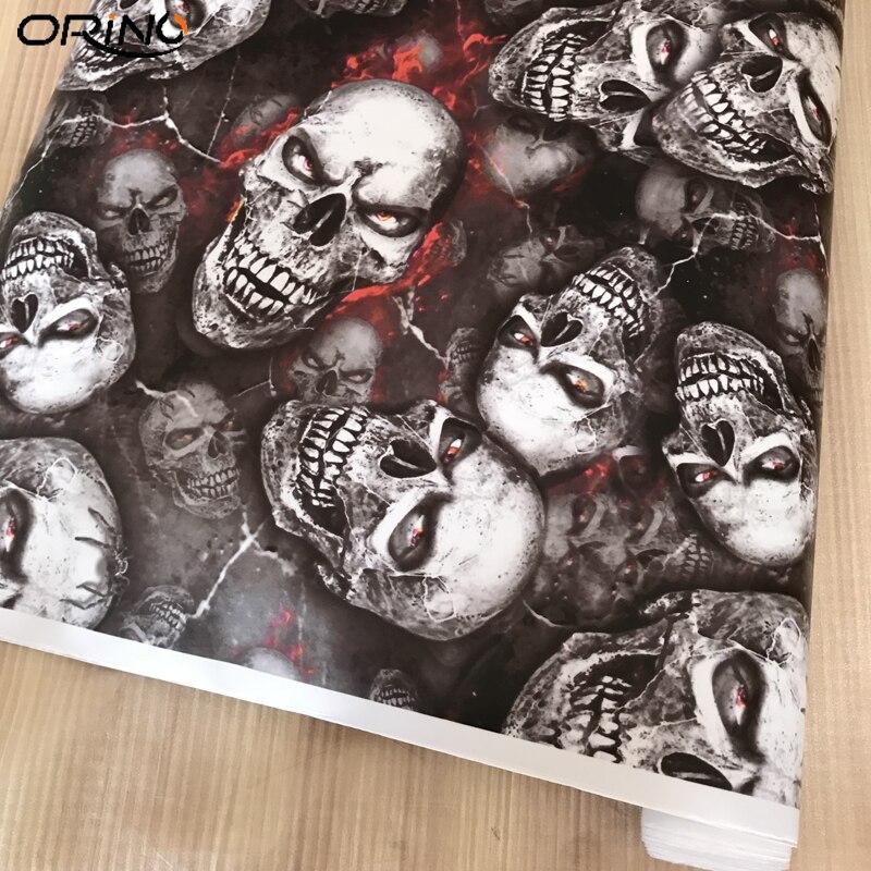 Skull Vinyl Film Car Sticker-22