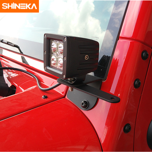 Image 3 - Shineka車ユニバーサルledワークライト柱フード取付ブラケット用ジープラングラーjk 2007 2017 外装部品