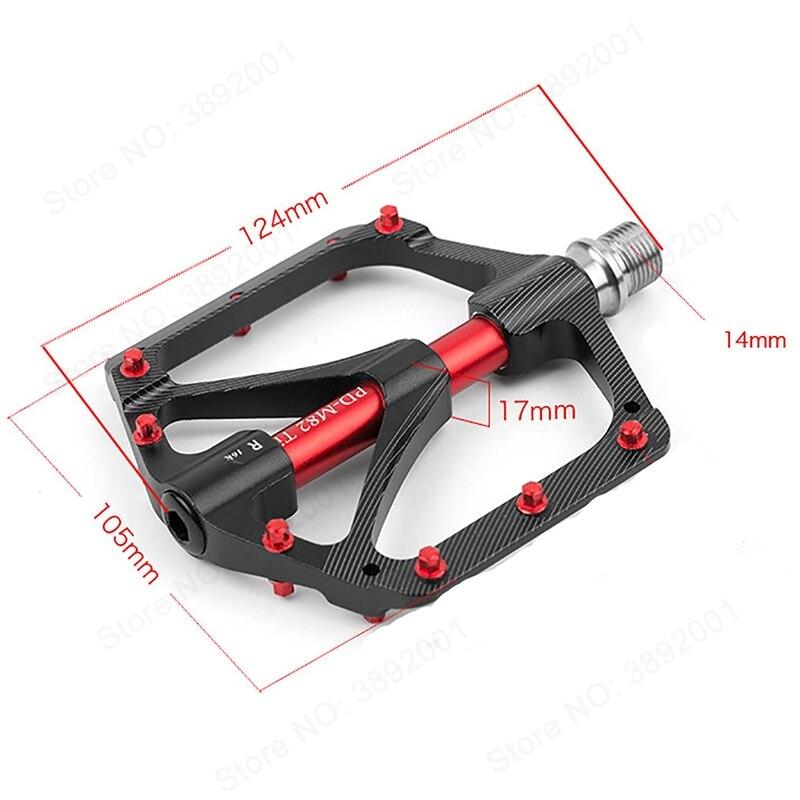 PROMEND vtt vélo pédale titane VTT pédale Ti axe axe vtt cyclisme auto-lubrifiant 3 roulement pédales ultra-légères - 5