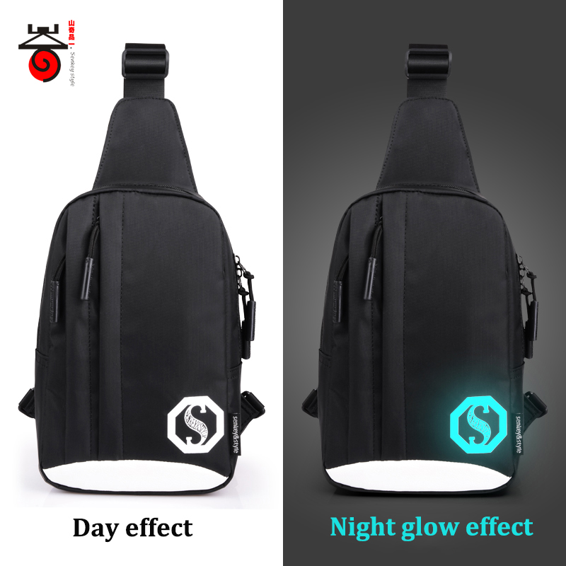 Senkey-stil Dubbla dragkedja Mode Ljusa herrbröstpaket - Handväskor