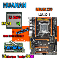 HUANAN Golden Deluxe Version X79 Gaming Motherboard LGA 2011 ATX Combos E5 2690 V2 SR1A5 4
