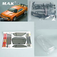 DIY 190mm 1/10 RC Car PC Clear BODY SHELL for Dodge Viper SRT8 190mm PC201205 Car Accessory