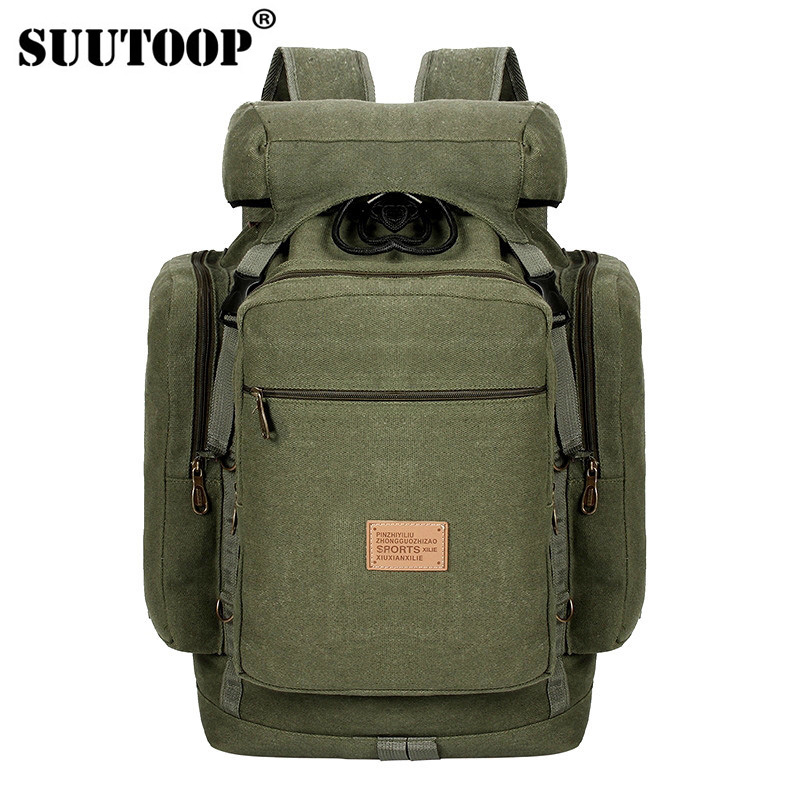 Men Army Large Capacity Travel Military Backpack Male Mountaineering Camp Canvas Casual Multifunction Bags For Male