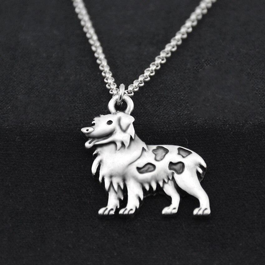Antik Silber Boho Australian Shepherd Dog Charm Anhänger Anweisung - Modeschmuck - Foto 5
