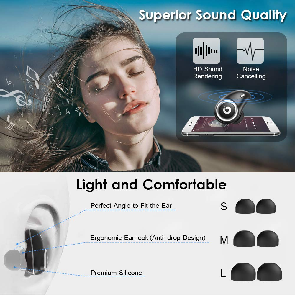 TWS I7plus True Wireless Earbuds 5 0 Bluetooth Earphone IPX7 Waterproof Stereo Wireless Headphones For iPhone with Charging Case in Bluetooth Earphones Headphones from Consumer Electronics