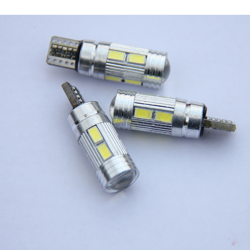 100pcs W5W 10 led 5630 SMD Projector Lens Canbus Error Free auto Clearance Lights T10 CAR