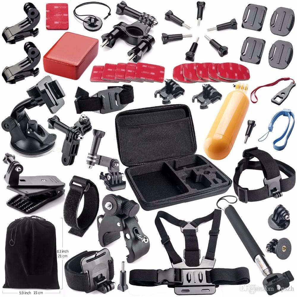 ФОТО Sports Suit Gopro 4 Accessories Set Suit Gopro Kit Case Bag Chest Strap for Go pro Hero 4 3 2 Xiaomi yi Sj4000 Action Camera