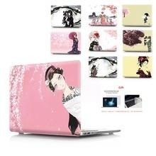 Kleur afdrukken notebook case voor Macbook Air 11 13 Pro Retina 12 13 15 inch Kleuren Touch Bar Nieuwe Pro 13 15 of Nieuwe Air 13 Kimono