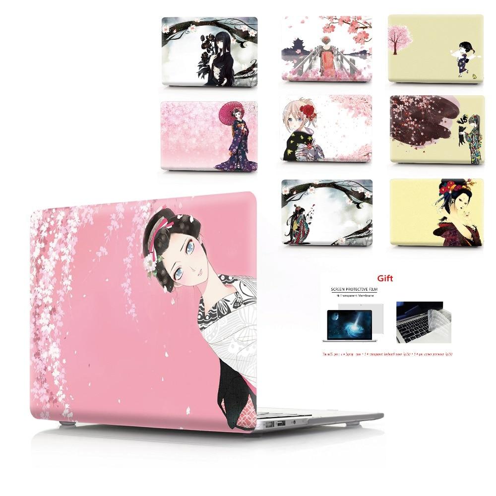 Чехол для ноутбука с цветной печатью для Macbook Air 11 13 Pro retina 12 13 15 дюймов цвета Touch Bar новый Pro 13 15 или новый Air 13 кимоно-in Сумки и чехлы для ноутбука from Компьютер и офис