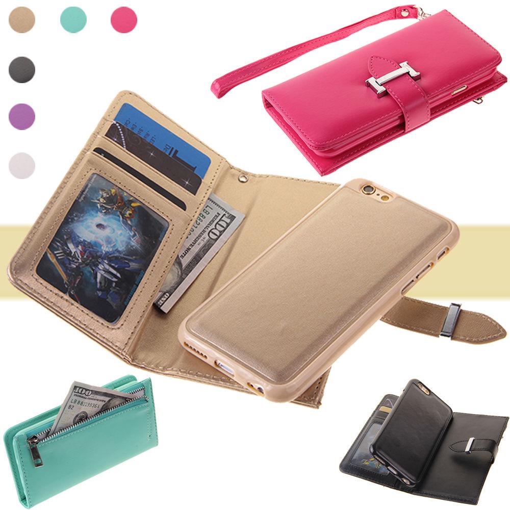 XINGDUO Magnet blixtlås läder plånbok avtagbar - Reservdelar och tillbehör för mobiltelefoner - Foto 1