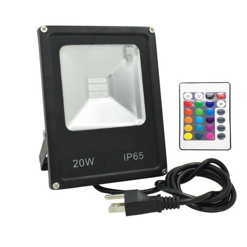 rgb led flood light 50w 30w 20w 10w 110v 220v remote. Black Bedroom Furniture Sets. Home Design Ideas