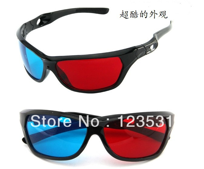 Computer 3D glasses / 3D red and blue glasses / Webcasts computer red blue stereoscopic