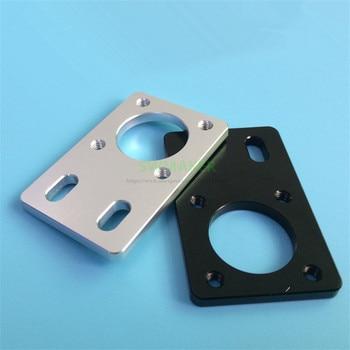 Eje de rodamiento LMK12 negro plateado/pieza de fijación, asiento de fijación de placa de fijación para 2020 2040 perfil de aluminio accesorios de impresora 3D