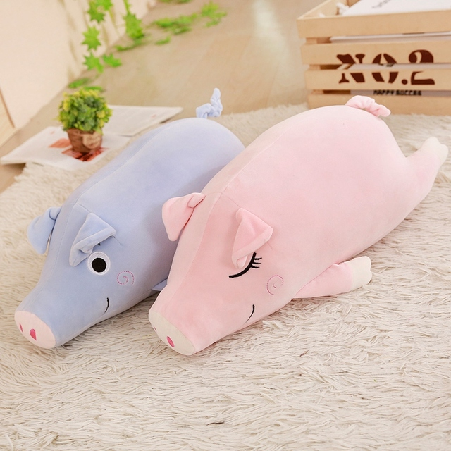 Cuddly Soft Lying Piggy Plush Pillows Doll Big Stuffed Animals Pig
