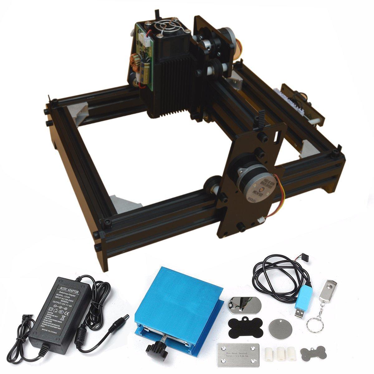 15 w CNC Crouter CNC Laser cutter FAI DA TE Mini Router di Legno di CNC Incisione Laser Macchina della Marcatura Del Metallo Incisione 2018 Best avanzata Giocattolo