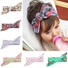 VTOM BABY Lovely Bowknot Elastic Head Bands for Baby Girls Headband Children Tuban Accessories Floral Hair Earband