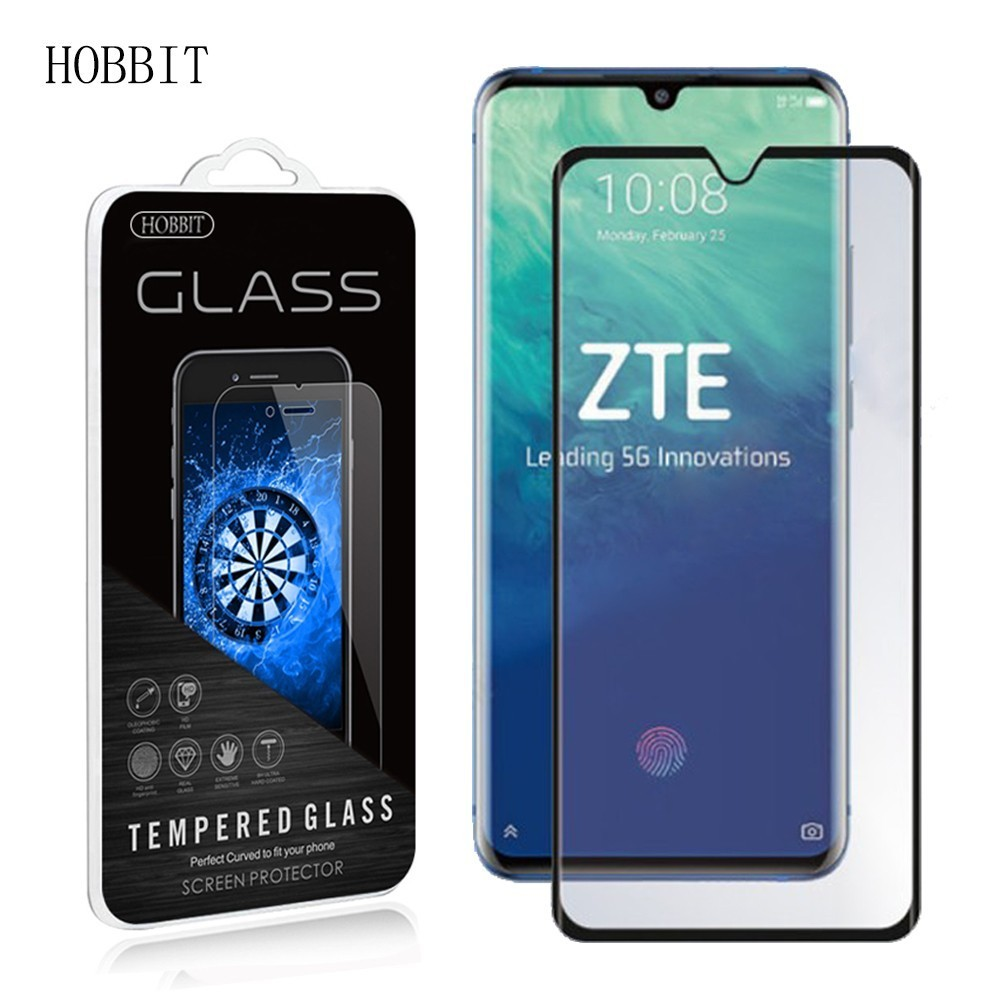 Tempered Glass For ZTE Axon 10 Pro 0.3mm 3D 9H Full Cover Premium Screen Protector Film Full Coverage Protective Film