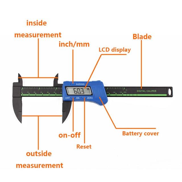 Precision 150mm Vernier Digital Caliper Ruler Micrometer Electronic