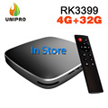 CAJA R-TV K99 Android6.0 RK3399 Smart TV CAJA 4G/32G 802.11AC 2.4G 5G de banda Dual WIFI Bluetooth 1000 M LAN USB3.0 TYPE-C Set Top caja