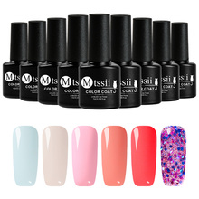 Mtssii 6 pcs/set Colorful Gel Varnish Christmas Gel Nail Polish New Ye