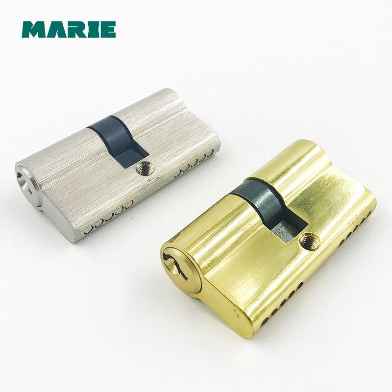 Ferragem Da Porta CY001 60-70mm De Bronze Segurança Canhão Da Fechadura Da Porta Interior Do Quarto Vivendo Punho Fechadura com Chave de Bronze bloqueio