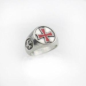 Мужское кольцо с красной эмалью Croos, Трендовое кольцо с красной эмалью, вечерние ювелирные изделия для мужчин