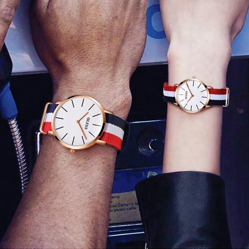 OLEVS 2018 Couple montres pour amoureux Simple mode Style Quartz hommes montres marque femmes sport étanche montre étudiant cadeau