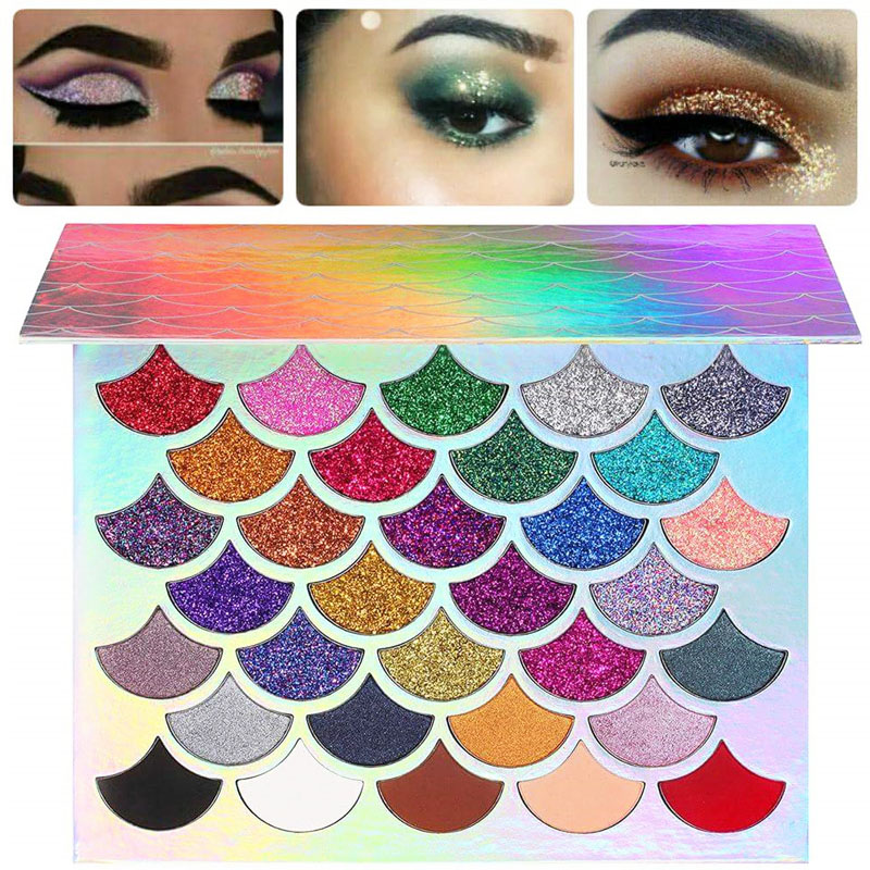 Professional Makeup Mermaid Glitter Eyeshadow Pallete Long lasting Matte Eyeshadow Palette Shiny Eye shadows Pigment Cosmetics