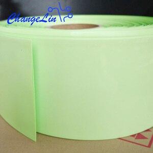 Image 2 - 1 미터 95 100 110 120 130 200 220 mm 과일 녹색 열 수축 튜브 열 수축 리튬 배터리 팩 와이어 케이블 슬리브 랩