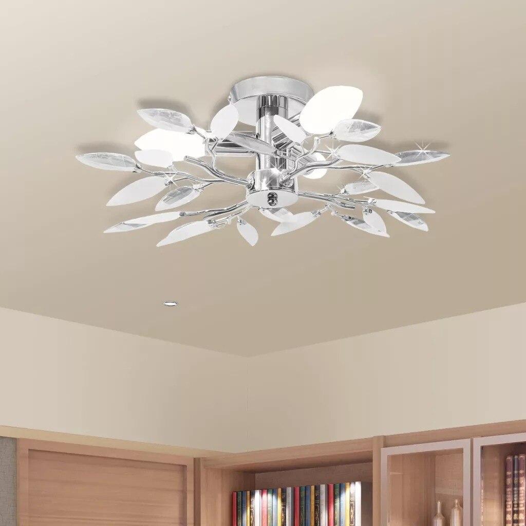 VidaXL lampa sufitowa i ramię w kształcie liścia akrylowe lampy sufitowe oprawa nowoczesna lampa salon sypialnia kuchnia montaż powierzchniowy