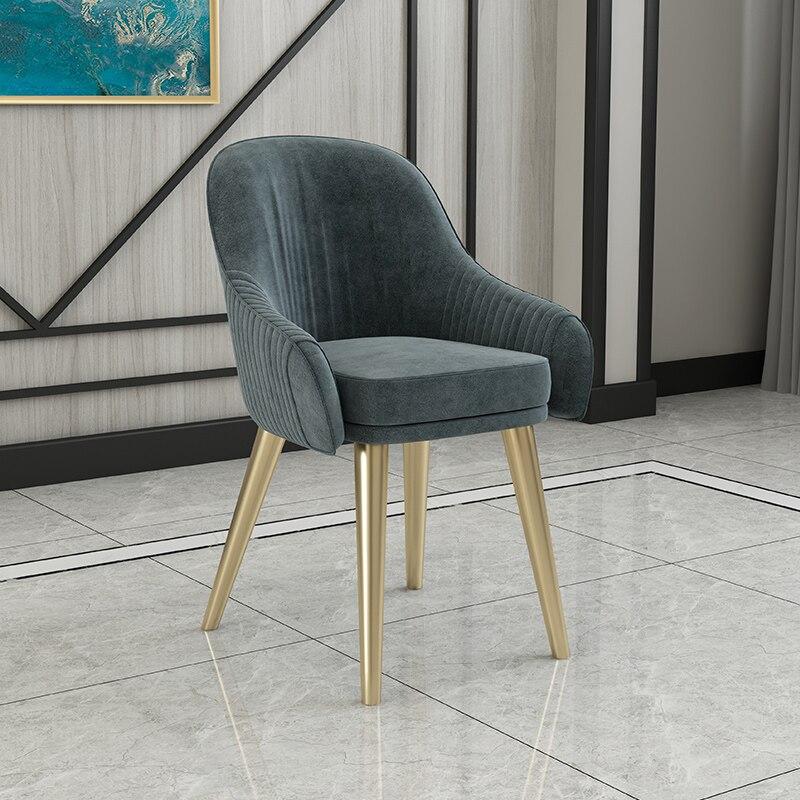 Скандинавский свет роскошный стул для столовой Современный чистый красный стул домашний дизайн ресторана кресло молочный чай кресло для отдыха - Цвет: 2