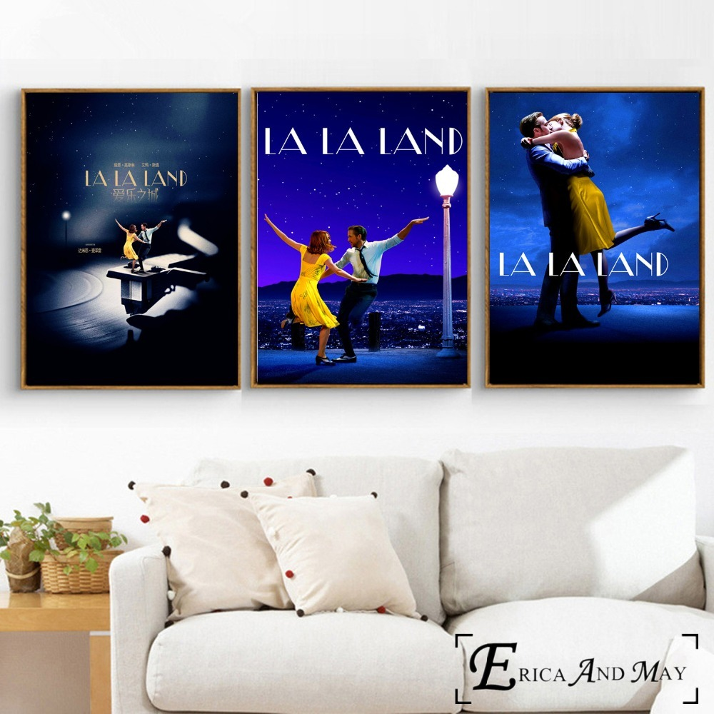 La La Land Music Movie Artwork Poster Prints Oil Painting On Canvas Wall Art Murals Pictures For Bedroom Decoration No Framed image