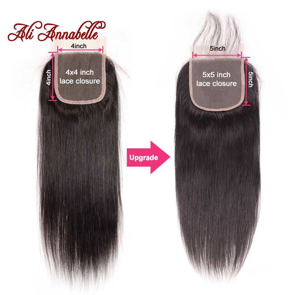 Brazilian Straight Human Hair Lace Closure 5 5 Swiss Lace Closure Natural Color 10 22Inch 100