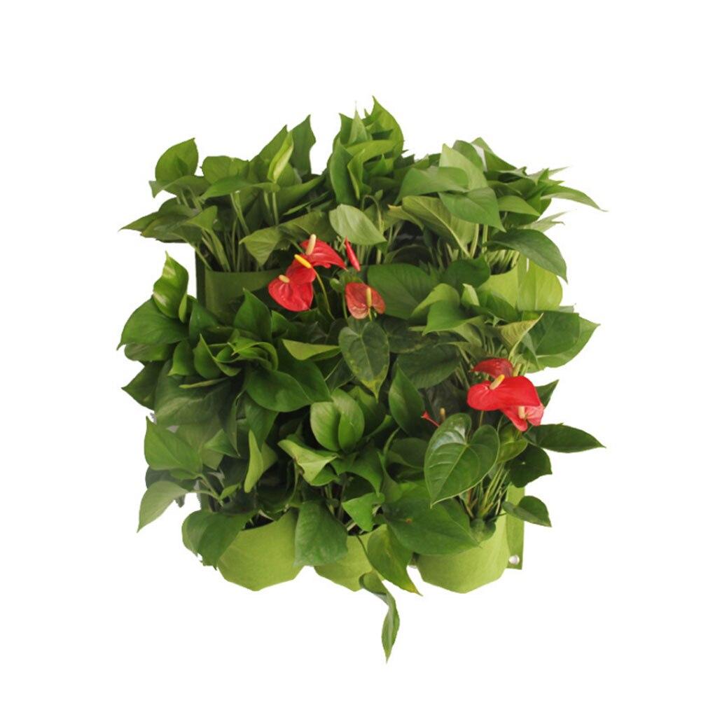 50 50cm 9 Pockets Hanging Plant Wall Pot Outdoor Indoor Vertical