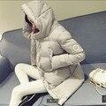 Mais recente Casaco de Inverno Com Capuz jaqueta Casaco de Inverno Mulheres Grandes estaleiros Grosso Casaco de algodão Edredom Estudantes roupas de Inverno BN099