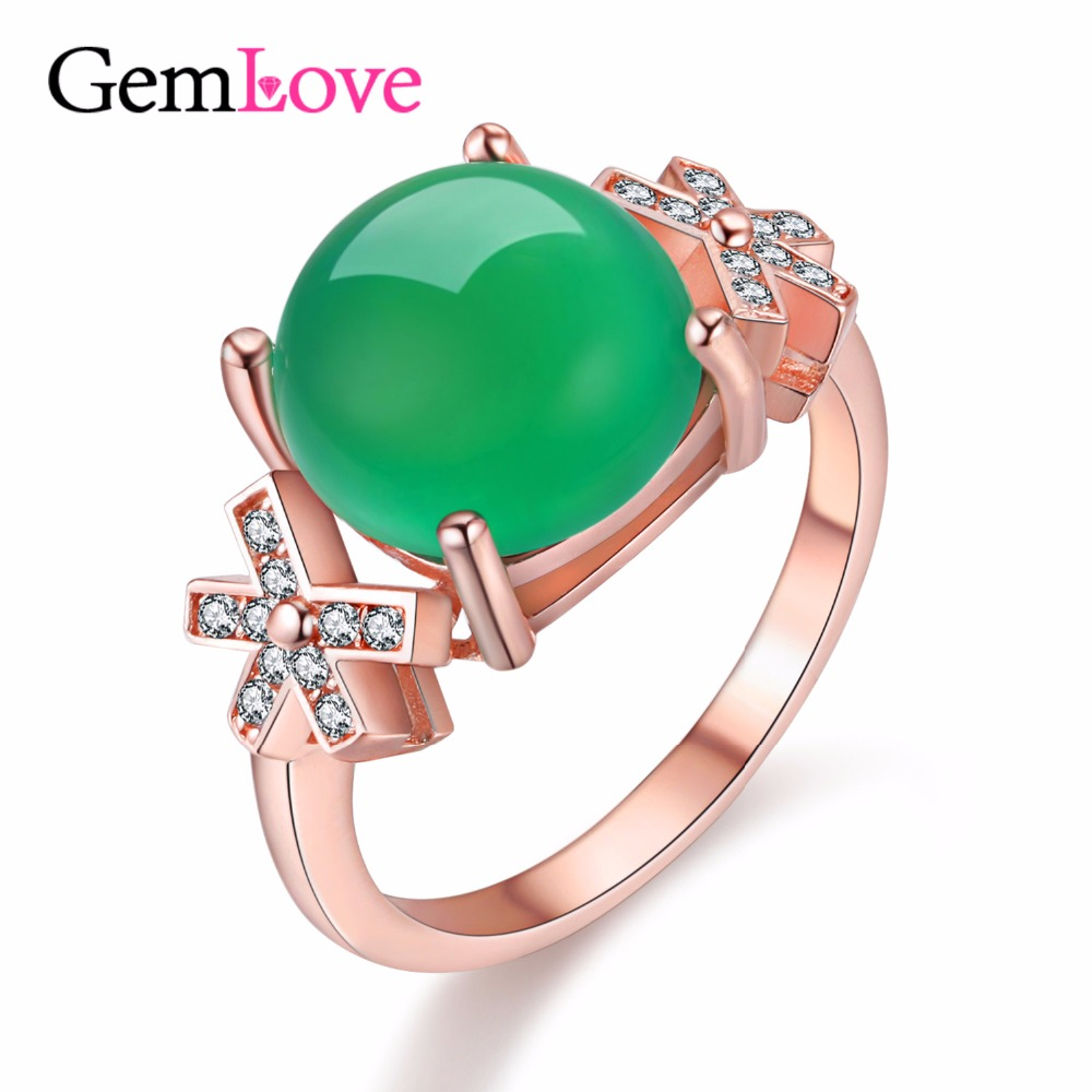 Gemlove 3ct Chalcedony 925 Silver Engagement Ring Sterling Silver Wedding  Rings Natural Gemstone Ring With Free Box 49% Fj080