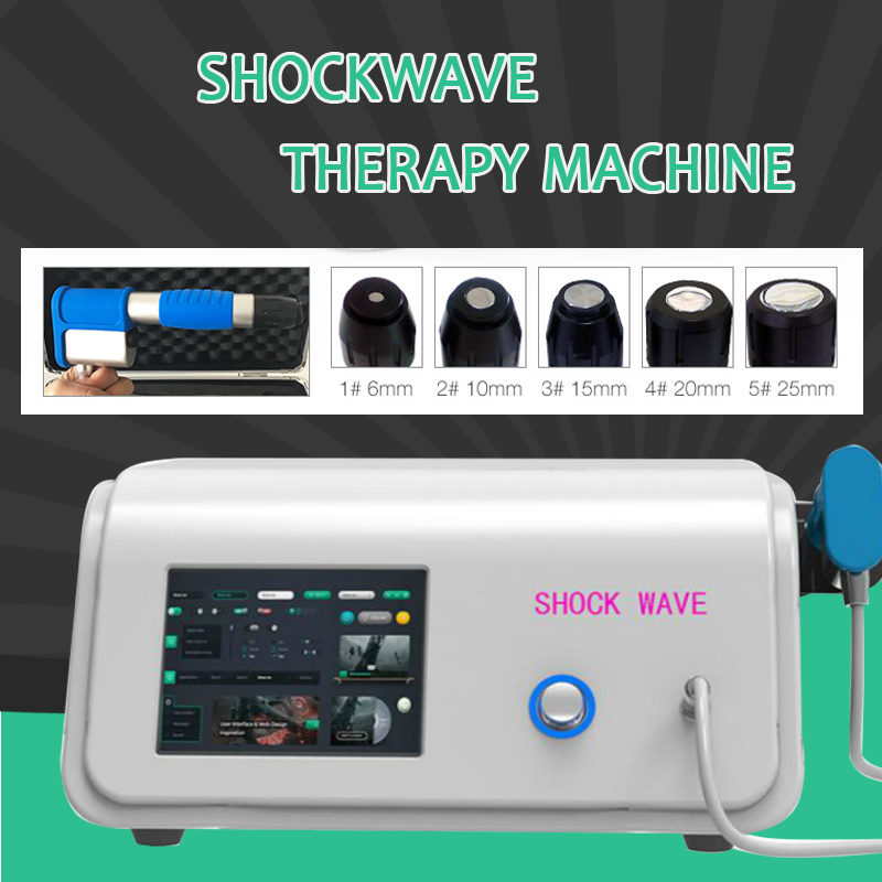 Compressor 8 Bar Radial Type ESWT Device Extracorporea Shock Wave Therapy Machine For Treatment Physiotherapy