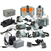 Technic Train Motor Remote Receiver LED Light Battery Box Power Functions technic functions Blocks Bricks Accessories Toys