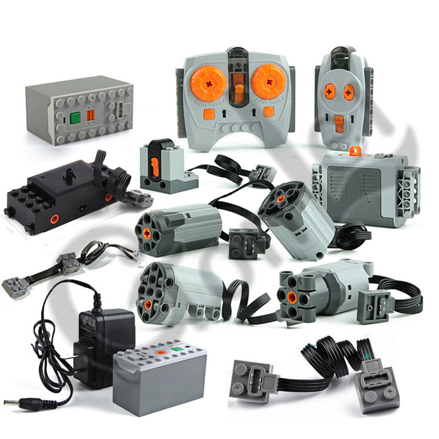 Technic Train Motor Remote Receiver LED Light Battery Box Power Functions technic Power functions Blocks Bricks Accessories Toys