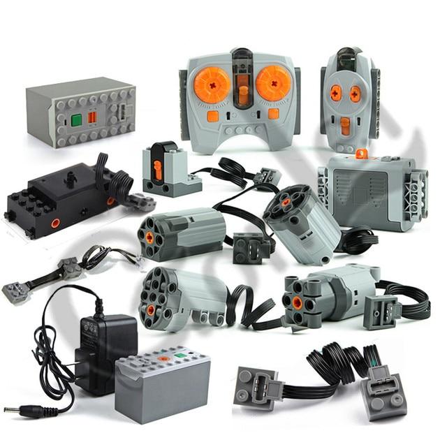 Technic Train moteur télécommande récepteur batterie pour lumière LED boîte fonctions d'alimentation technic puissance fonctions blocs briques accessoires jouets