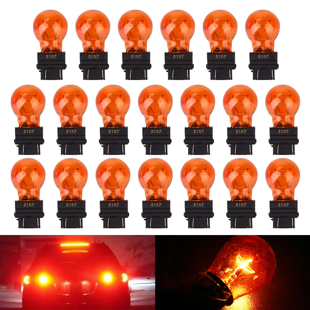 5Pcs 3157 Car Mini Signal Light Bulb Red Wedge Shape Lighting Universal Durable DC12V 25W Bumper License Plate Lights