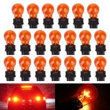 5 шт. 3157 автомобильный мини сигнальный светильник лампа красный Клин форма светильник ing Универсальный Прочный DC12V 25 Вт бампер номерные знаки