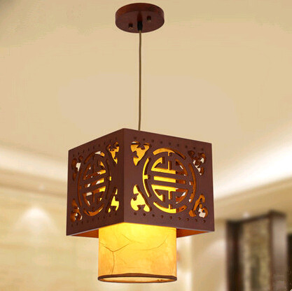 Tradition Chinese style coffee carved wood art Pendant Lights Retro palace charming lamp for balcony&corridor&porch&cafe MYR004 tradition chinese style carved wood art pendant lights retro countryside house lamp for bar