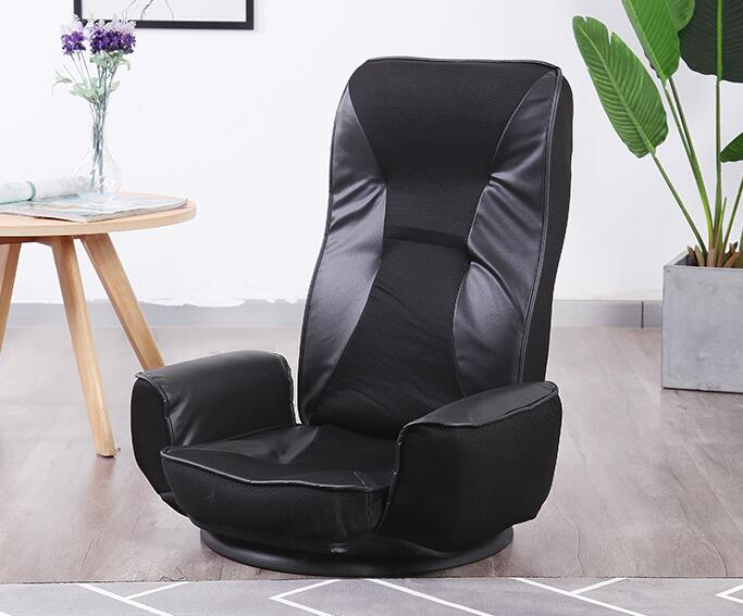 Pleasing Us 149 0 360 Degree Swivel Folded Video Game Chair Floor Lazy Man Sofa Chair With Leather And Mesh Fabric Upholstery Armchair Living Room In Living Bralicious Painted Fabric Chair Ideas Braliciousco