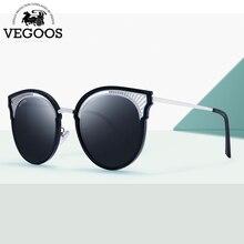 VEGOOS Womens Polarized Sunglasses Cateye Oversized Mirrored Lens Designer for Women Fahion 2018 New Arrival #6128