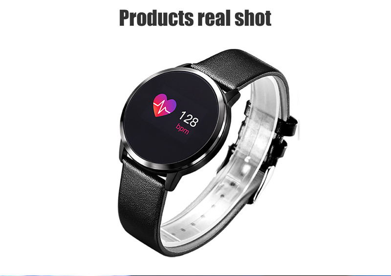 MAFAM Q8 Smart Watch OLED Color Screen Smartwatch Men Women Fashion Fitness Tracker Heart Rate Monitor For IOS Android Watch (25)