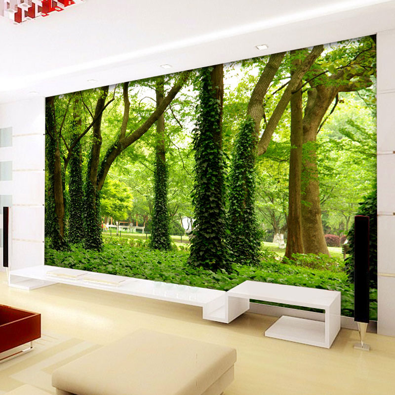 Green Tree Forest Custom 3D Stereo Large Mural Wallpaper Living Room Sofa Bedroom TV Background Photo Wall Paper Modern Painting