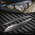 High quality Carbon Fiber decoration Headlight  Eyelids Eyebrows cover trim 2pcs Fit For 2009 Honda Fit accessories