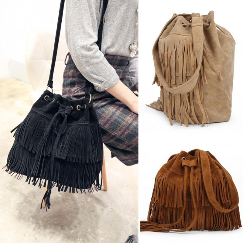 f60392130cf Retro Shoulder Bag Vintage Tassel Cross Body Bag Women Messenger Bags  Popular Handbag Handbags Women-in Shoulder Bags from Luggage   Bags on  Aliexpress.com ...